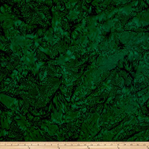 Green Bali Shade - Hoffman Fabrics 0569294 Hoffman Bali Batik Watercolors Hunter Fabric by The Yard