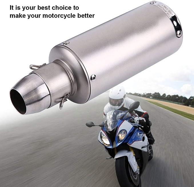 Amazon.com: Qiilu Universal Motorcycle Exhaust Pipe Muffler ...