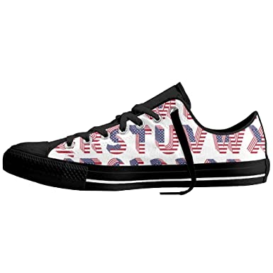 89797226f1843 Amazon.com: Letters USA Flag Womens Canvas Fashion Sneaker Low Top ...