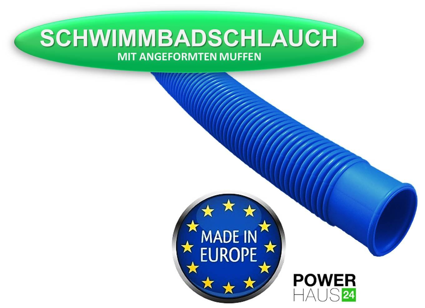 Power HAUS24 Tube for Swimming Pools and Ponds – Paddling pool Ø 38 mm (6/4) – Length: 1.50 m POWERHAUS24