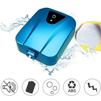 Oxigenador de energía solar Bomba de oxígeno de agua Oxigenador aireador para el jardín Pecera de ...