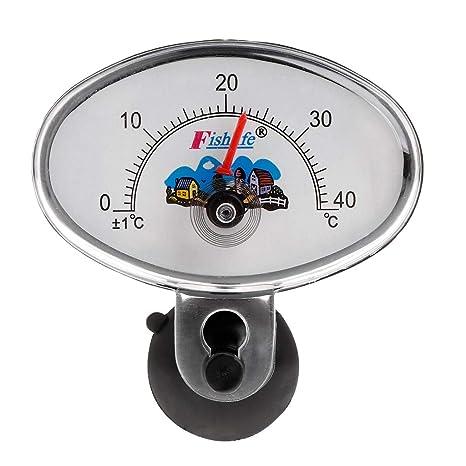 Biniwa Termómetro de Acuario, Sumergible, Resistente al Agua, medidor de Temperatura, Suministros