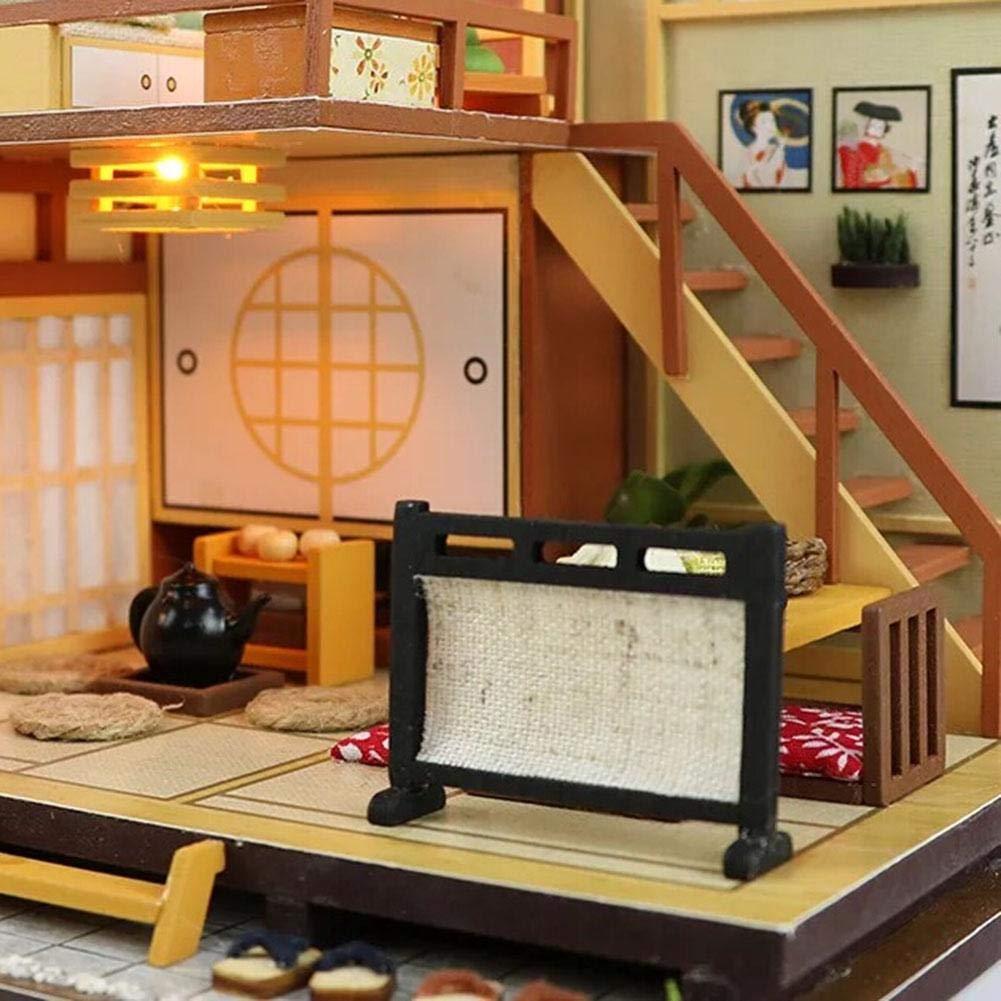 Casa de muñecas casera, casa de muñecas Casual, caseta de madera, casita de bricolaje con cubierta antipolvo y muebles y accesorios incluidos - casa de ...