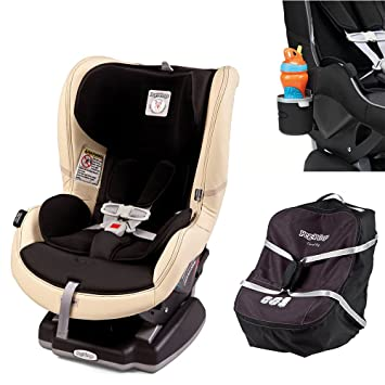 Peg Perego Primo Viaggio Infant Convertible Car Seat W Travel Bag Cup Holder