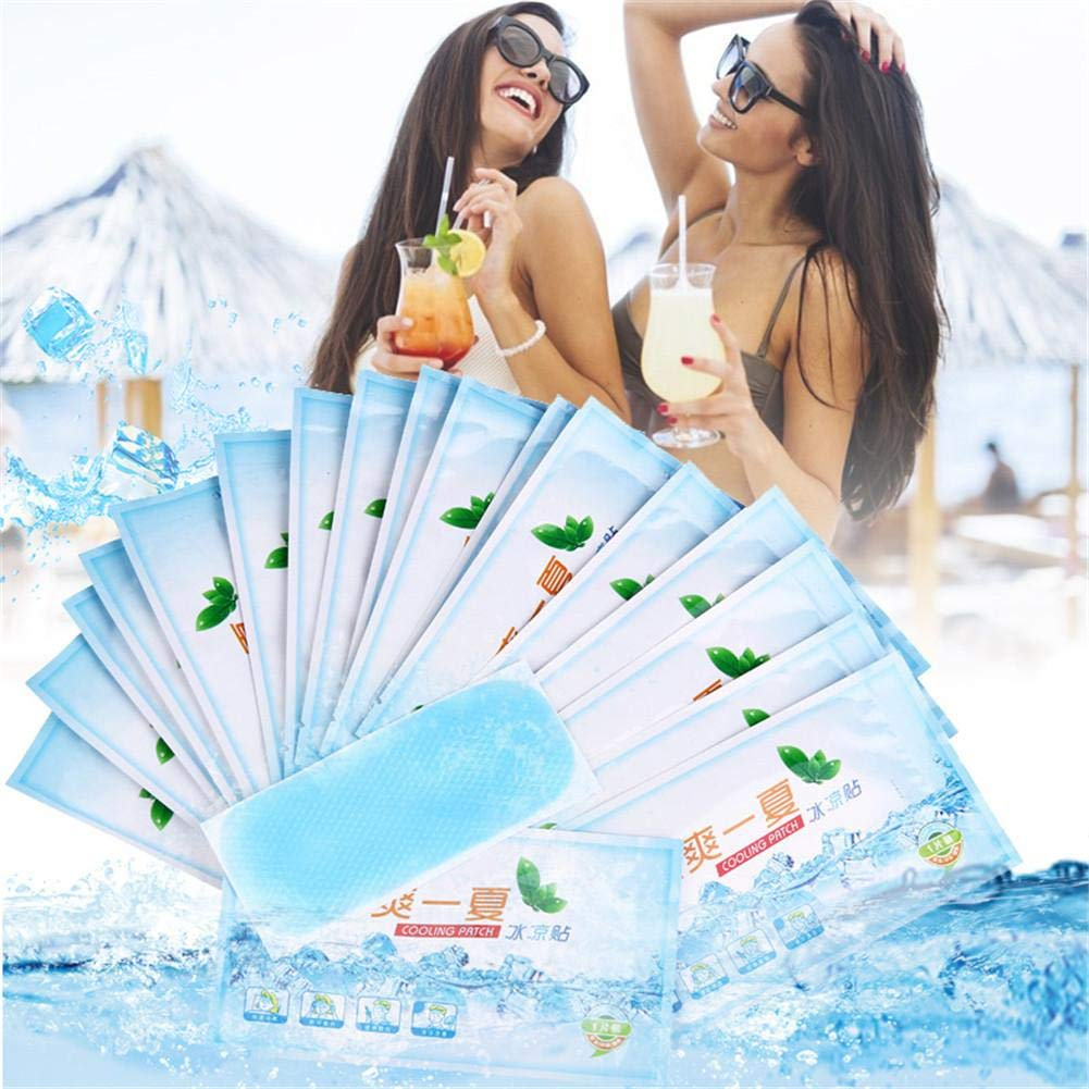 Cooling Gel Patches, Migraine and Headache Cooling Forehead Strips Relieve Headache Patch - Lasts Up to 8 Hours - for Fever Headache Toothache Pain Muscle Ache Drowsiness Fatigue Sunstroke