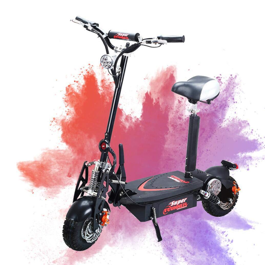 WSJ Scooter Eléctrico Plegable-Portable + Peso Ligero Adulto ...