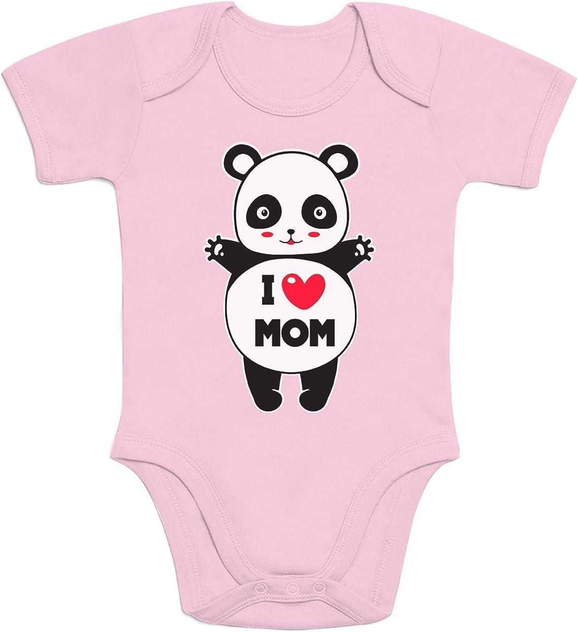 Abbraccio affettuoso Body Neonato Manica Corta Shirtgeil Panda I Love You Mom