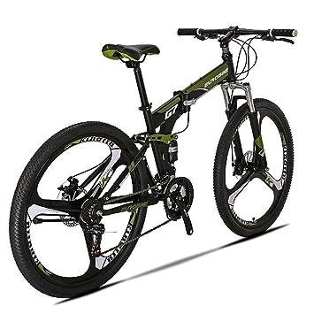 Extrbici G7 Mountain Bike 21 Speed Steel Frame 27.5 Pulgadas Ruedas Doble Suspensión Bicicleta Plegable (