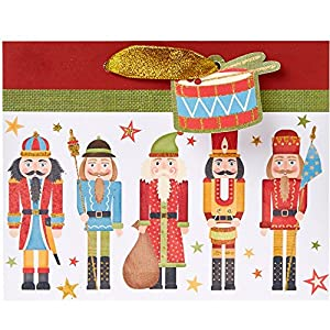 Jillson Roberts 6-Count Small Christmas Gift Bags Available in 10 Different Designs, Traditional Nutcracker