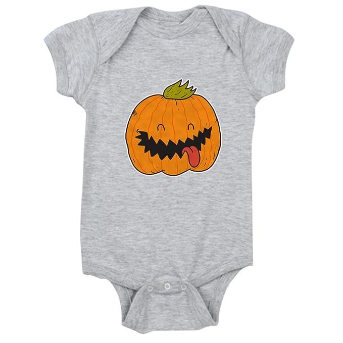 CafePress - Halloween Jack O Lantern - Cute Infant Bodysuit Baby Romper  Heather Grey 1bdb69044