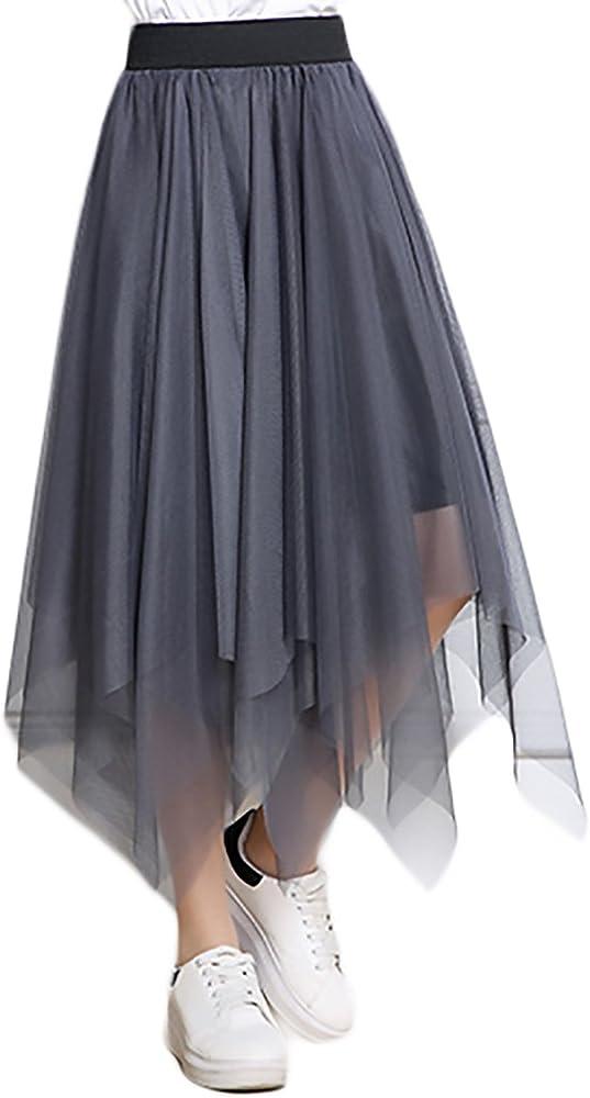 Faldas Mujer Verano Malla Falda Larga Cintura Alta Vintage ...