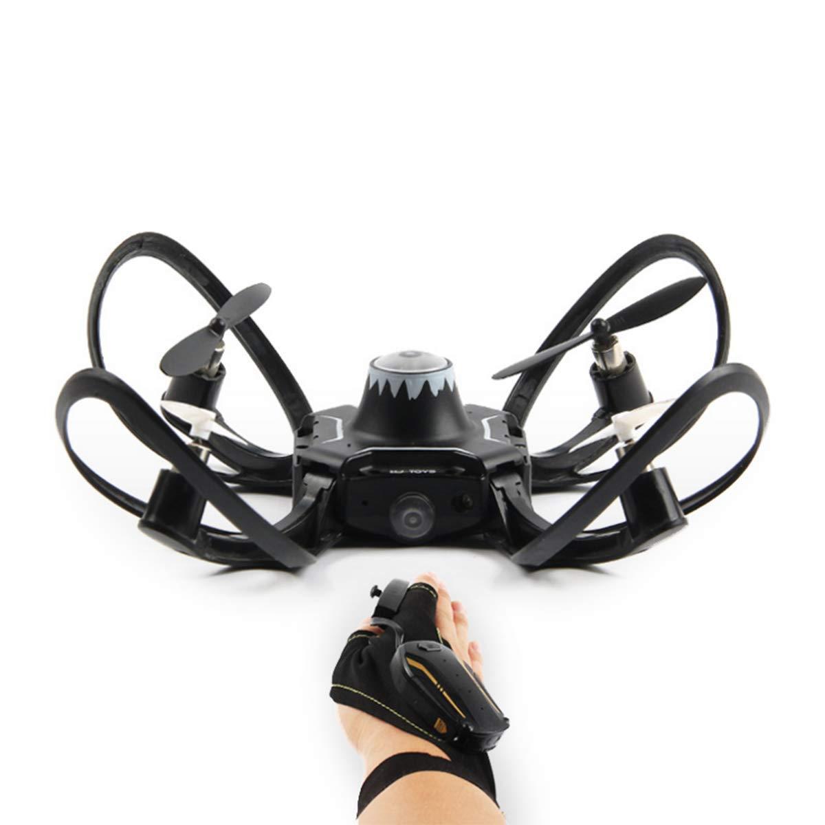 BNMZXNN Drone Controllo gesti, Mini Aereo Pieghevole, quadricottero, Altezza Mantenere l'apprendimento della stabilità di Volo Facile a 2.4 GHz,No Aerial Photography-9  9  9cm