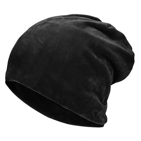 Amazon.com  Komene Flannel Unisex Beanie hat  The Softest Winter Hat ... 38a6c4624928