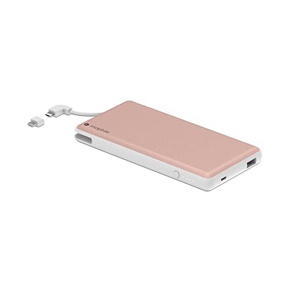 sneakers for cheap 720ec ebee5 mophie powerstation Plus XL External Battery with Built in Cables for  Smartphones and Tablets (12,000mAh) - Rose Gold