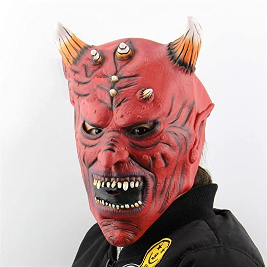 MYASOB Las máscaras de Disfraces Látex Caps Bull Sus Demonios de Escape Halloween Dress Up Christmas Horror Fantasma máscara de la Mascarada for Las Mujeres Personalidad (Color : Red): Amazon.es: Jardín