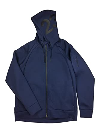 93190fb8e5e2f0 Air Jordan Mens Flight Tech Shield Full Zip Hoodie Jacket (Large ...
