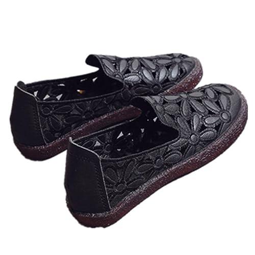 LUXIAO 2018 Verano nuevos Zapatos de Mujer Cabeza Hueca Suave Fondo Plano con Mocasines Zapatos Planos Zapatos de hojaldre Casual: Amazon.es: Zapatos y ...