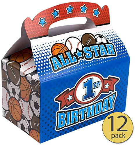 All Star Sports Toy Box - Set of 12 - Boy First Birthday - Boy 1st Birthday - All Star Sports Treat Box - All Star Sports Party Supplies - Bulk Pack
