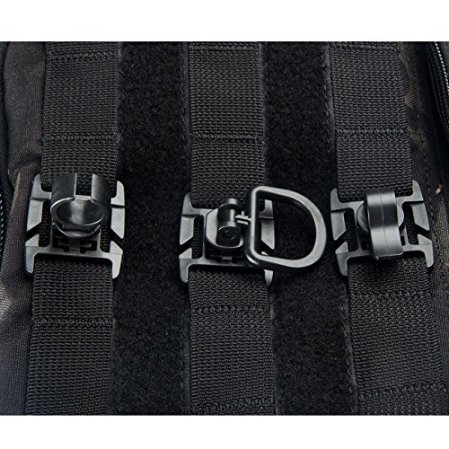 Tactical Tube Clip Water Tube Clip D-ring Clips MOLLE Webbing Attachment for Tactical Bag (Mix 6pcs)