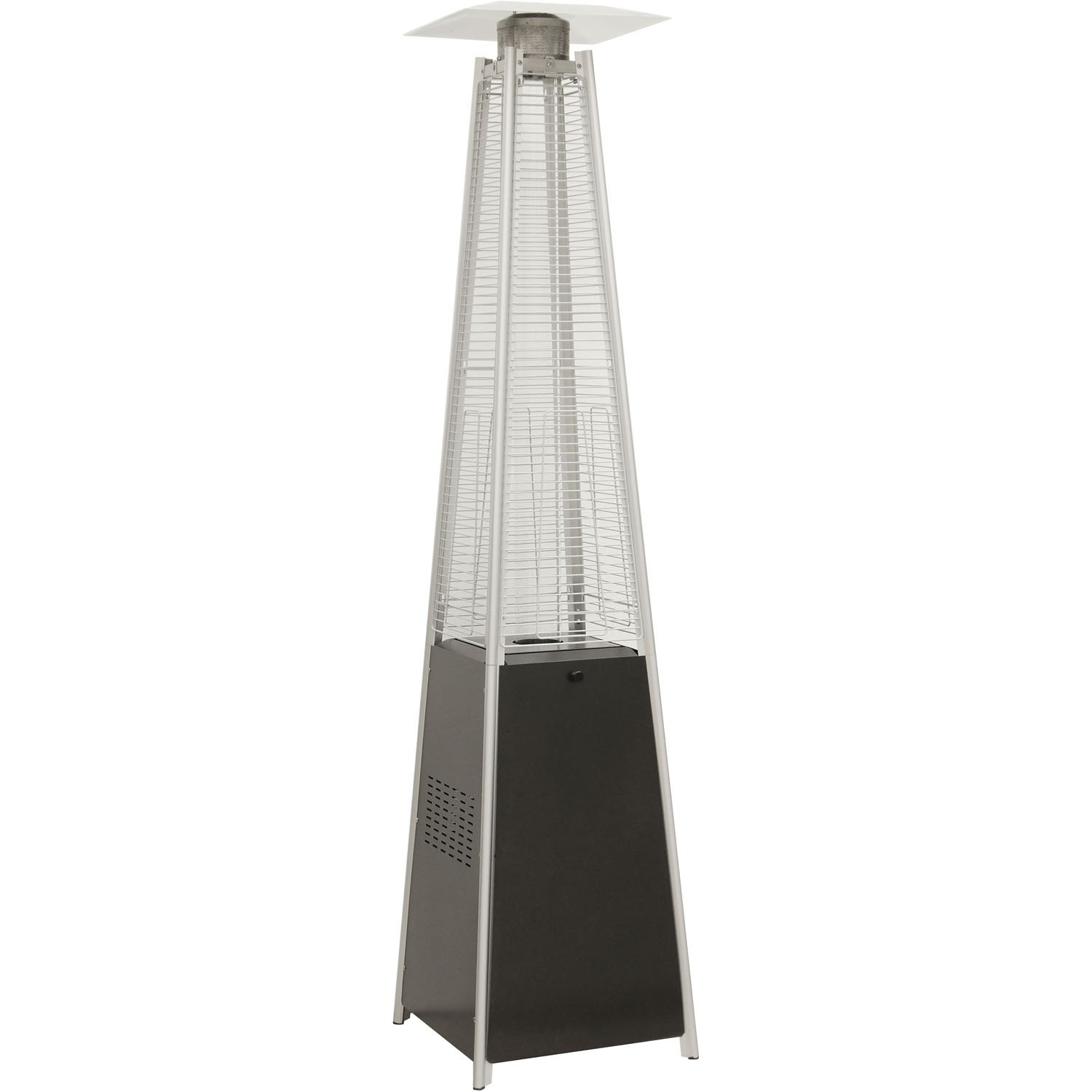 Hanover 42000 BTU Pyramid Propane Patio Heater, 7', Black