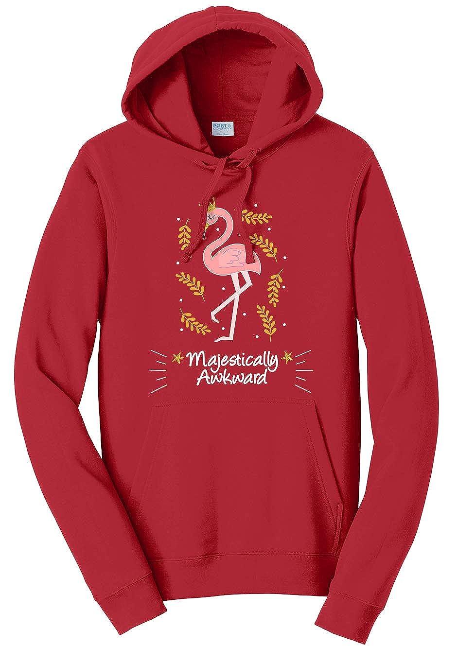 Tenacitee Unisex Majestically Awkward Flamingo Sweatshirt
