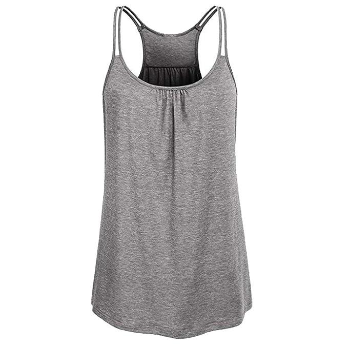 Amazon.com: TAKIYA - Camiseta sin mangas para mujer, cuello ...