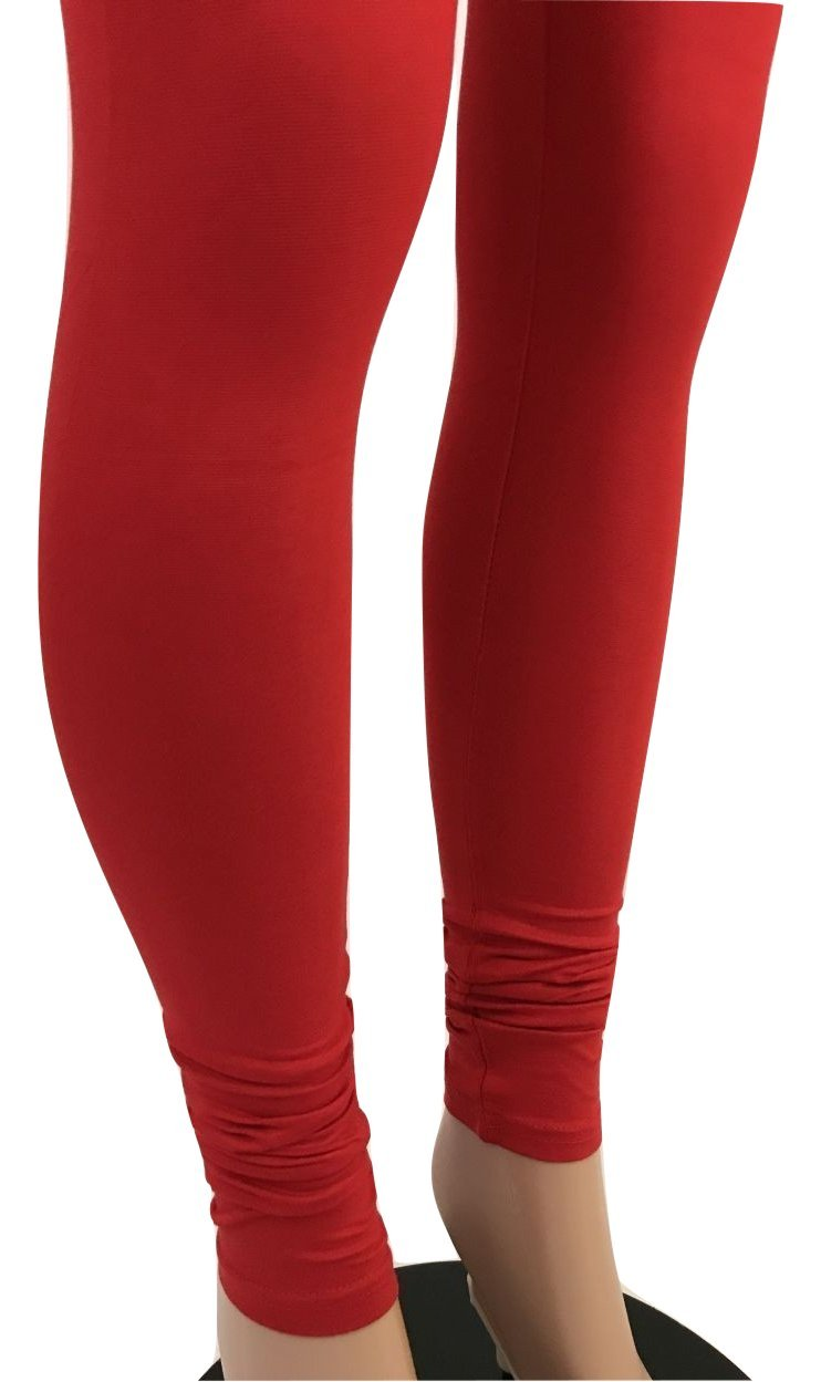 IBC Women's Cotton Churidaar Legging (3XL Fits USA (12 & up), Red)