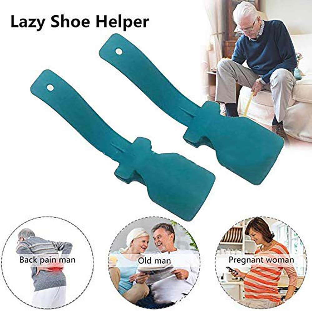 Lazy Shoe Helper - Handled Shoe Horn - Shoe Lifting Helper Easy on Easy Off, Plastic Shoehorn for Men, Women and Kids, Portable Shoe Horn, Perfect Shoe Horn Fits for All Shoes: Health & Personal Care