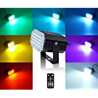 Mini Stage Strobe Light with 48 Super Bright Led, softeen 7 Colors Sound Activated Stage Lighting Automated Flash Mode Adjustable Flash Speed Control, Wireless Remote, Ideal for Wedding Disco Party
