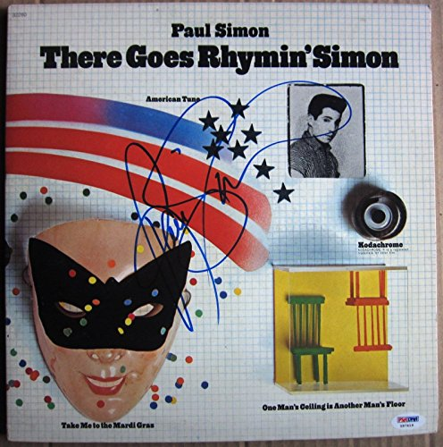 Paul Simon signed LP Album Cover There Goes Rhymin' Simon PSA/DNA -