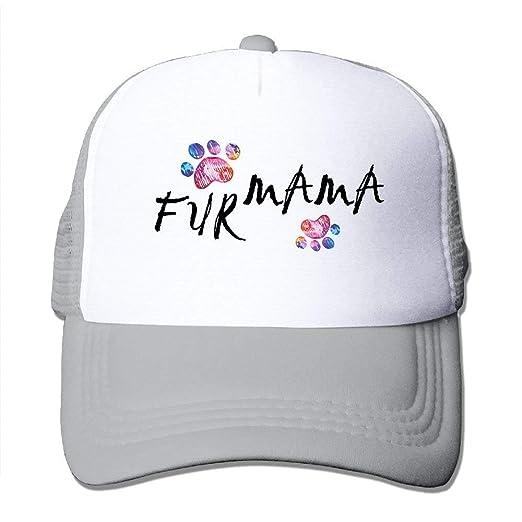 Bebby Shop Fur Mama Women Summer Adjustable Mesh Cap Trucker Hat at ... 631cd0536