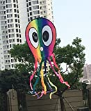 Kedofe Large Octopus Kite for Kids And Adult long Beautiful Tail Easy Flyer Kites 22''x98.5'',Beach Park Garden Outdoor Fun Toys