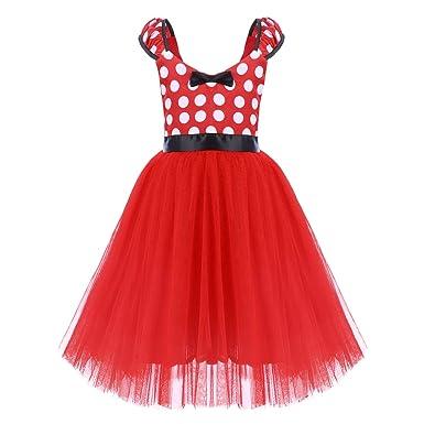 82e96f9fb Minnie Costume Toddler Little Girl Princess Polka Dots Christmas Birthday  Costume Bowknot Ballet Leotard Tutu Fancy