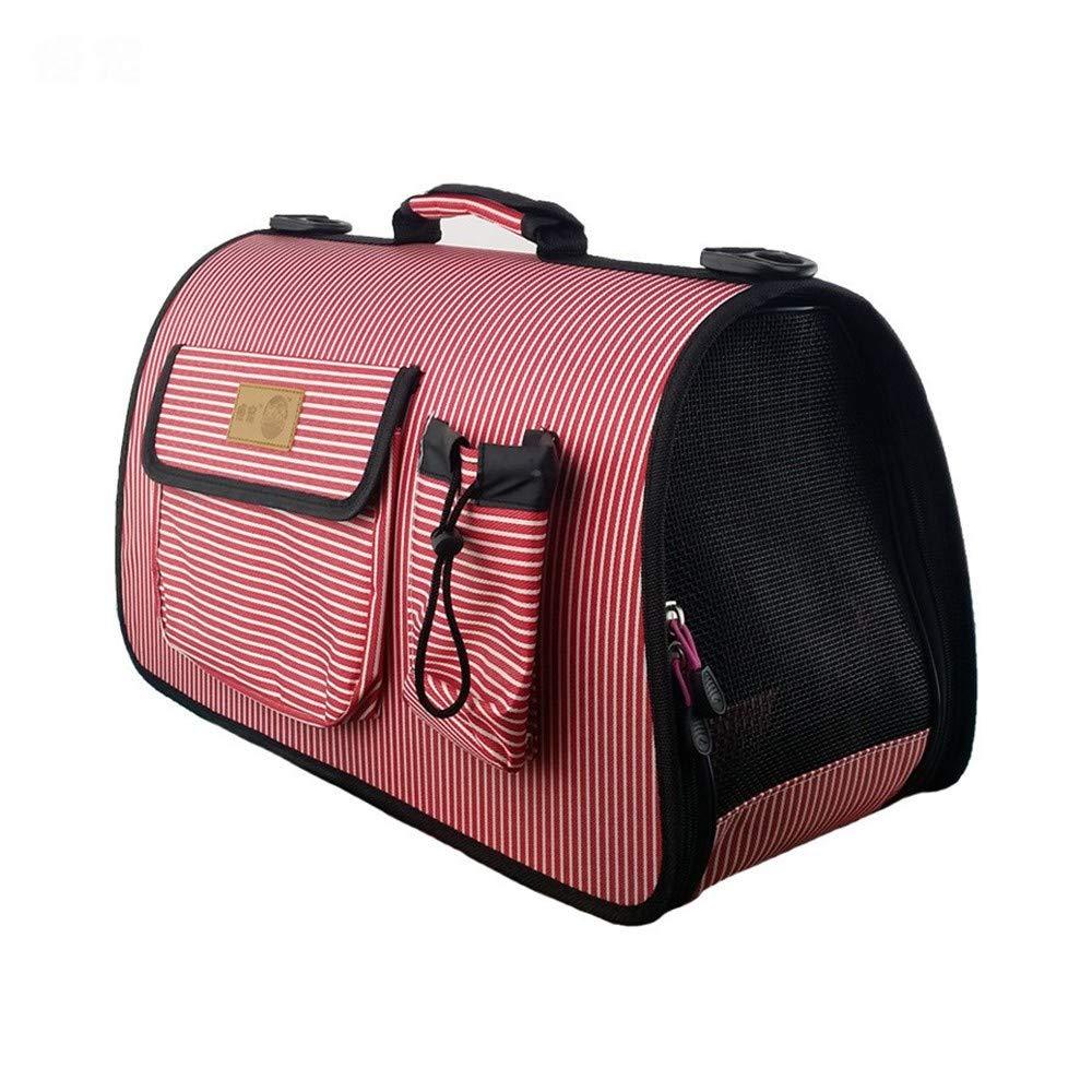 Red B 54×23×30cm Red B 54×23×30cm COOINS-CBXL Pet out bag foldable breathable fashion shoulder bag pet bag, 54 × 23 × 30cm, red B
