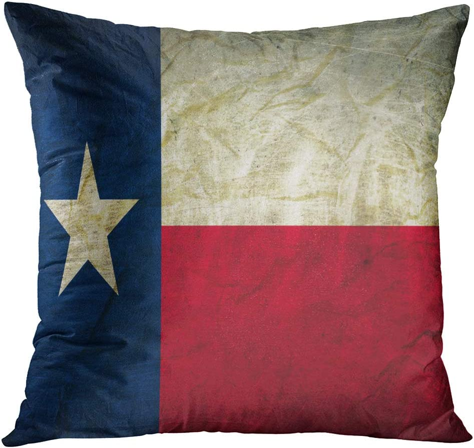 Tomkeys Throw Pillow Cover Houston Texas On Abstract Aged Decorative Pillow Case Home Decor Square 16x16 Inches Pillowcase Home Kitchen