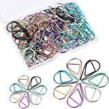 Frienda 105 Pieces Multicolor Water Drop-Shaped Paperclips Metal Paper Clips for School Office Supplies, 2 Size, 7 Colors