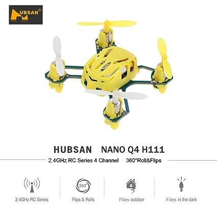 Goolsky Hubsan H111 Mini Drone NANO Q4 2.4G 4-CH 6-Axis Gyro RTF ...