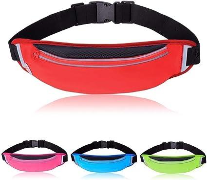 Black Outdoor Sport Running Waist Bag Waterproof Phone Jogging Belt Bag L/&6