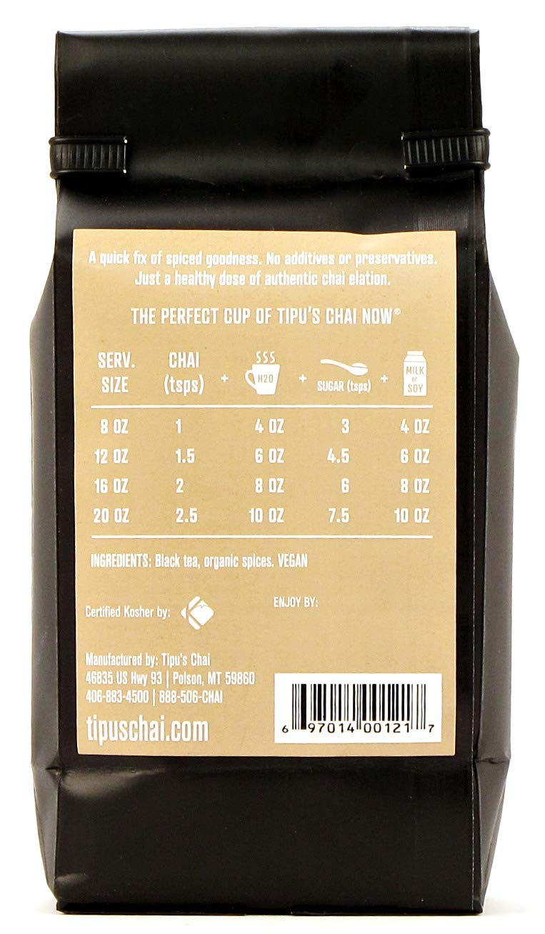 Tipu's Chai Now Unsweetened Chai Tea (16 ounce) by Tipu's Authentic Indian Chai