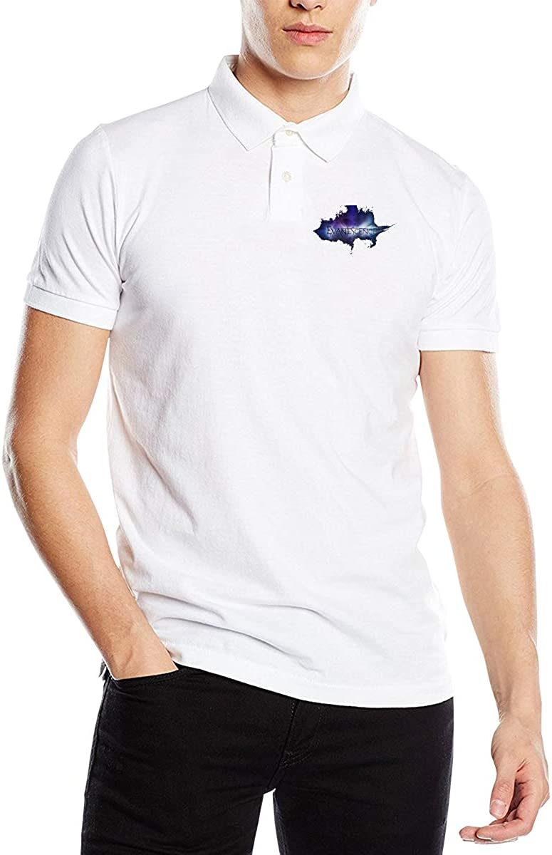Cjlrqone ACDC Men Funny Polo Shirts Black