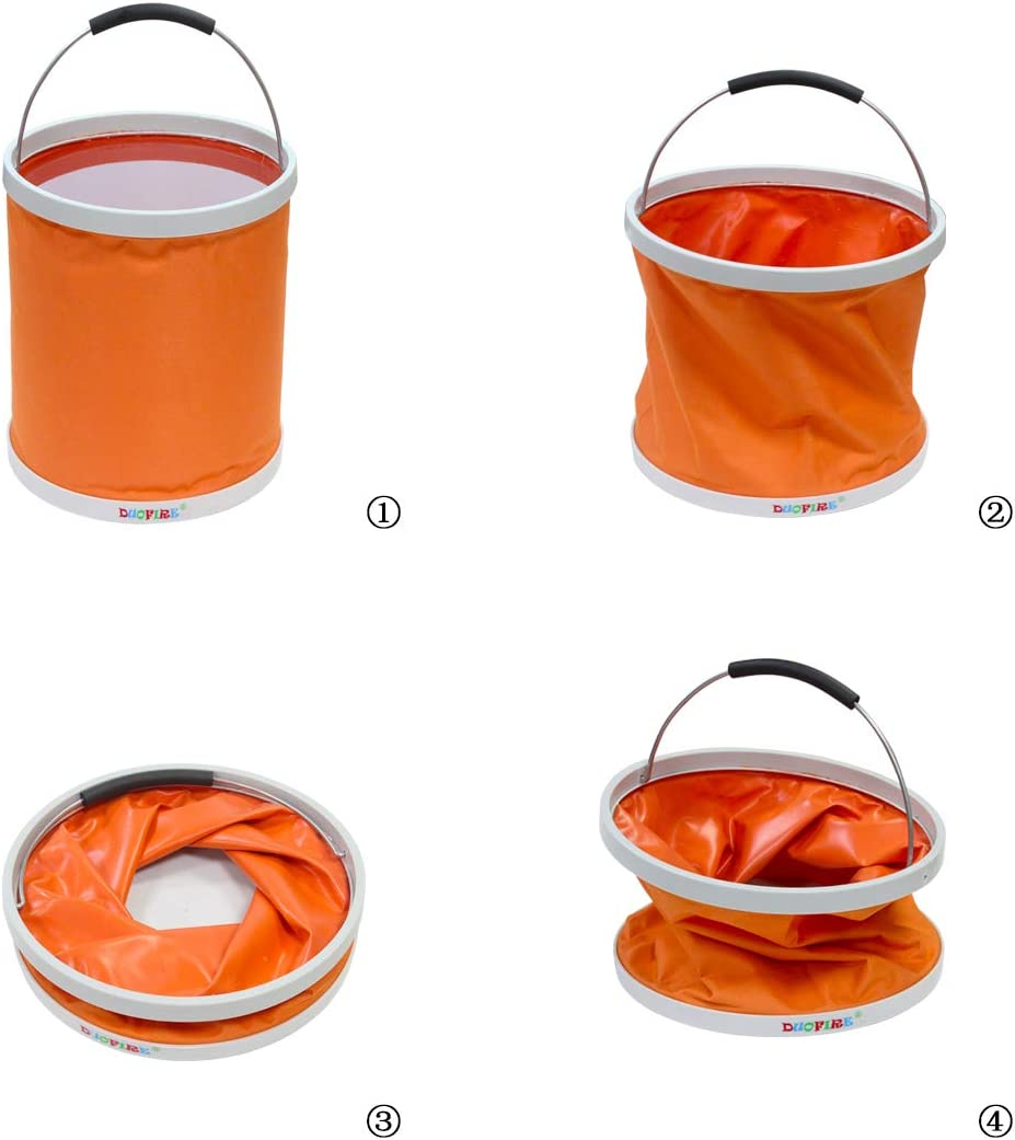 Travel Camping DUOFIRE Collapsible Bucket Foldable Water Bucket Portable Water Container Wash Basin for Fishing