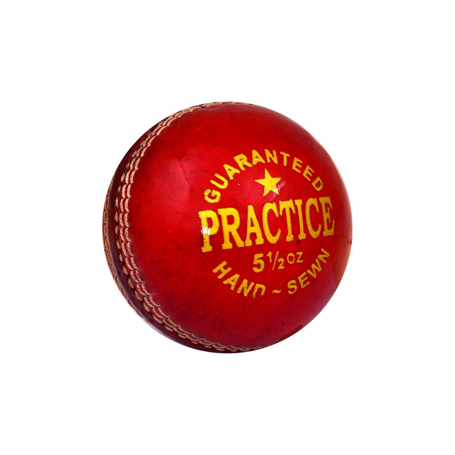 Jager-Smith Practice Leather Cricket Ball (Red)