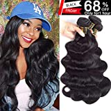 QTHAIR 10A Brazilian Virgin Body Wave 3 bundles 20'' 22'' 24'' Natural Color Unprocessed Brazilian Virgin Hair Body Wave Hair Weave Remy Wavy Wholesale Hair