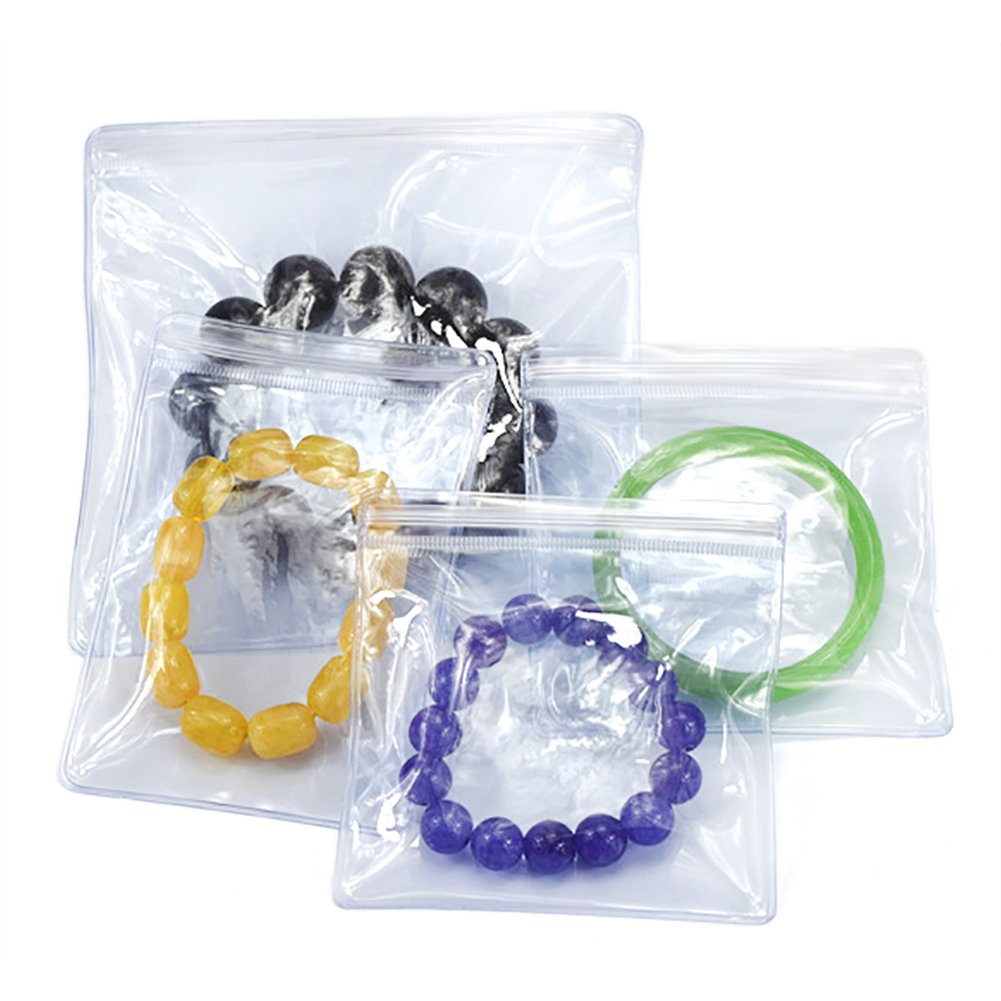 100 PCS Aspire 5 Mil Durable PVC Zip Pouch for Crafts//Jewelry//Gifts Packaging-3 1//2 x 5 inch