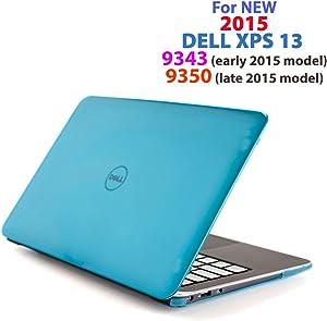 "Aqua iPearl mCover Hard Shell Case for 13.3"" Dell XPS 13 9343/9350 / 9360 Models (not Fitting Older L321X / L322X / 9333 and Newer 9365 2-in-1 Models) Ultrabook Laptop - Aqua"