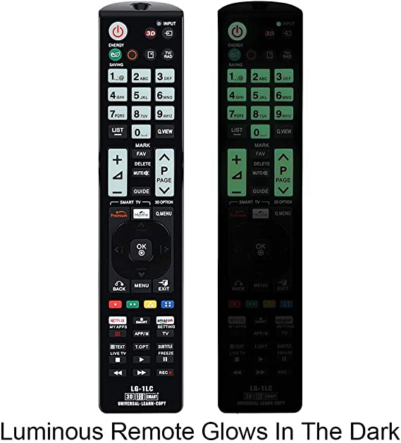 Alkia LG-1LC - Mando a distancia universal luminoso para LG TV ...