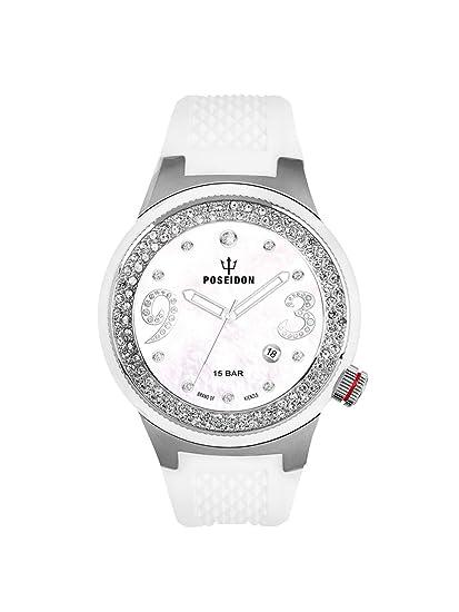 Kienzle K2112014053-00428 - Reloj analógico de cuarzo para mujer con correa de silicona,