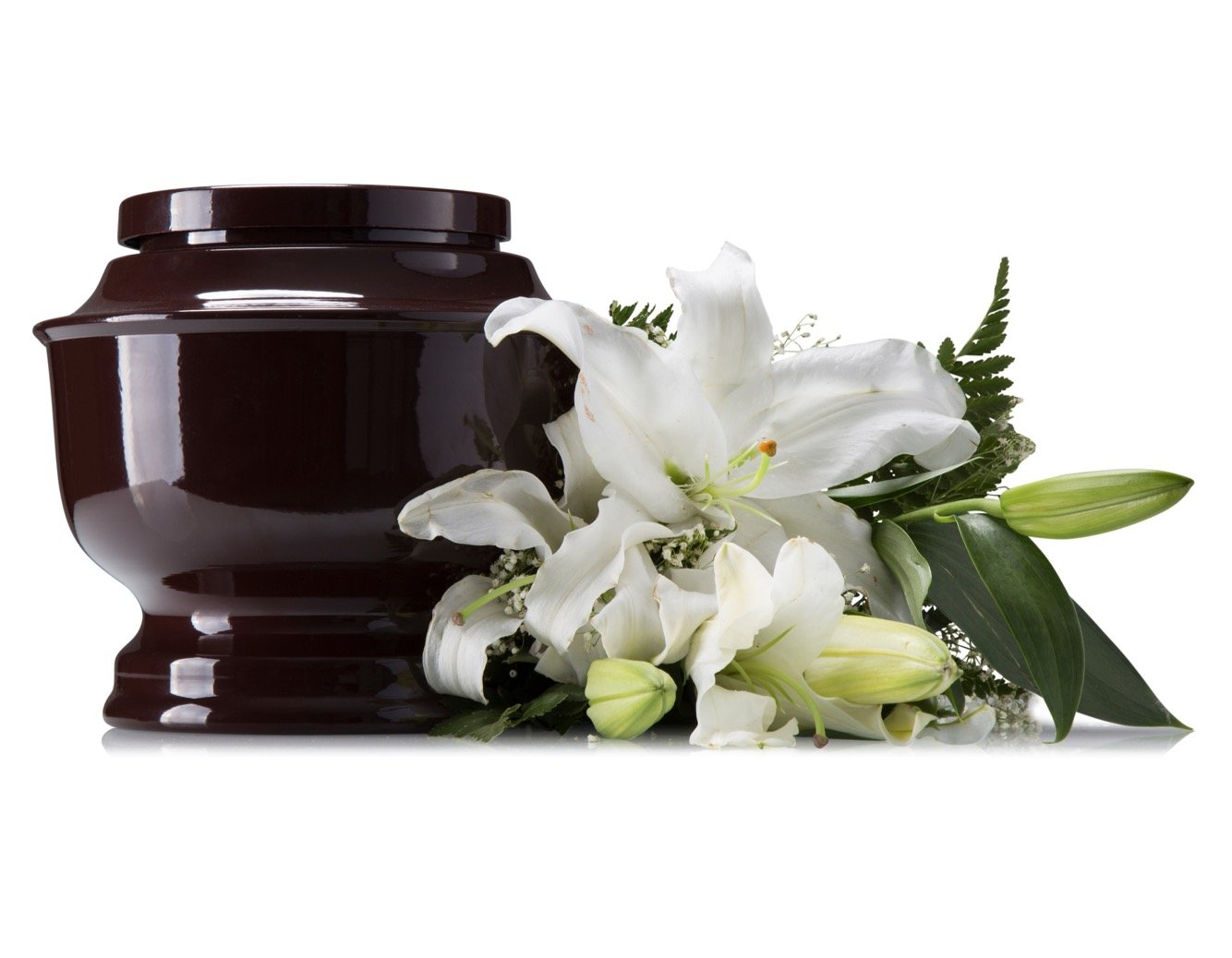 SmartChoice Classic Funeral Cremation Urn for Human Ashes, a Variety of Colors Available, Adult, with Velvet Bag (Black)