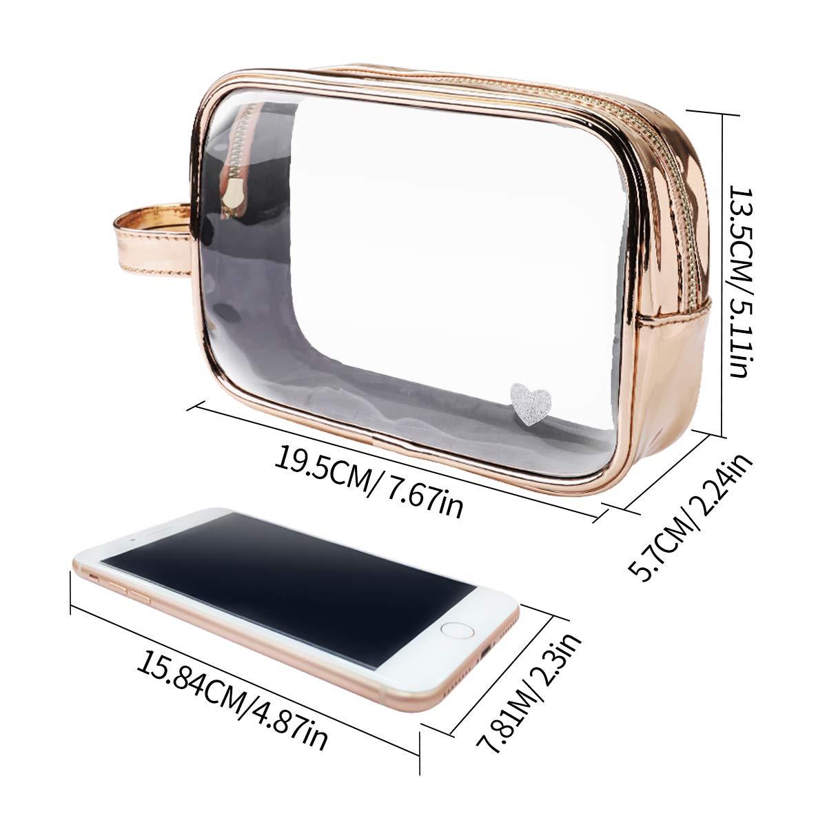 Transparente Kulturtaschen mit 7 Behältern, Kosmetiktasche transparent Kulturtasche für Flüssigkeiten | Reiseset Handgepäck für Flugzeug Reise Flaschen Handgepäck Beutel für Damen und Herren