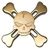 Hand Fidget Spinner,Omiky® EDC Quadri Fidget Spinner Skull and Crossbones Finger Groy Toy for SBDX ADD ADHD Anxiety Autism Suffers (Gold)